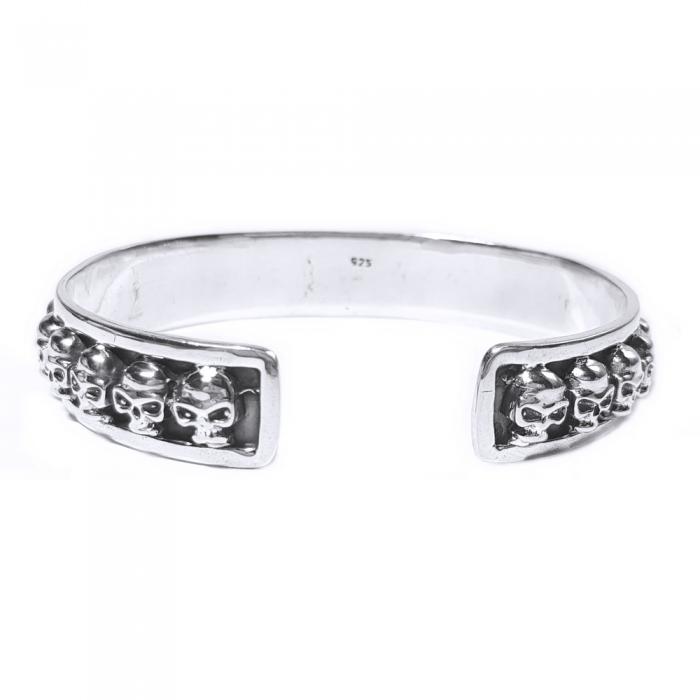Bratara argint 925 cu cranii, Vanitas 1