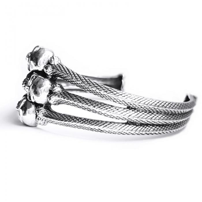 Bratara argint 925 cu cranii 1
