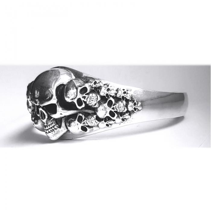 Bratara argint 925 cu cranii 2