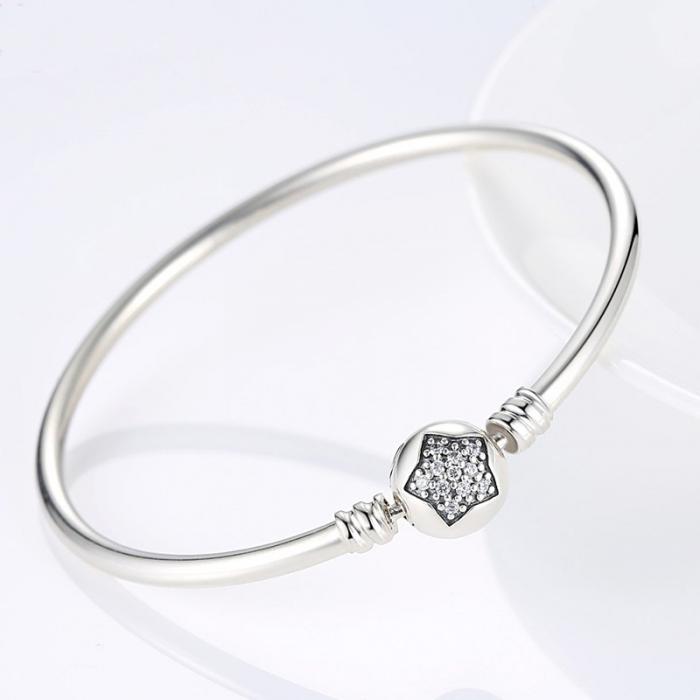 Bratara argint 925 cu floare si zirconii albe - Be Elegant BST0009 [1]