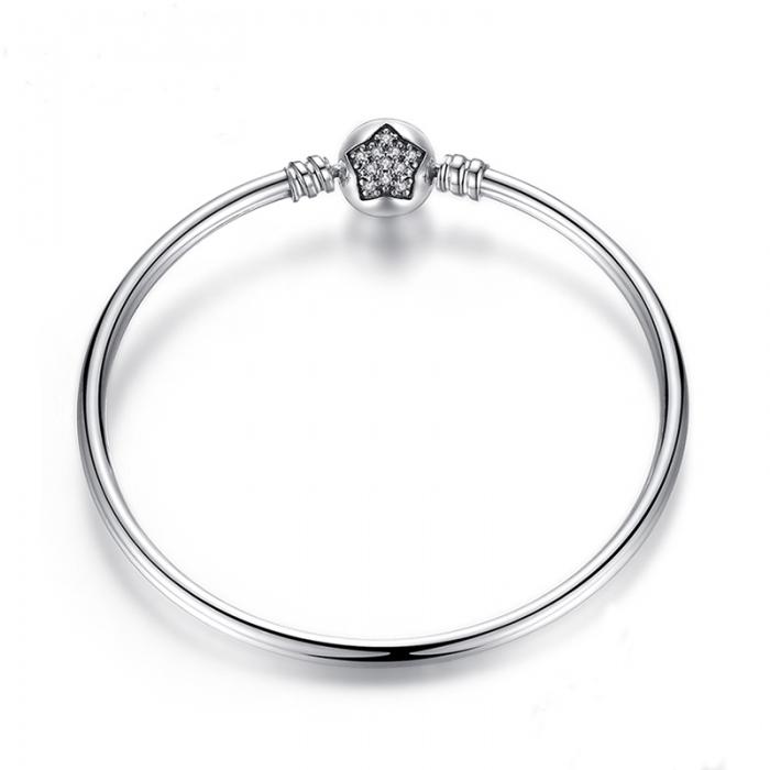 Bratara argint 925 cu floare si zirconii albe - Be Elegant BST0009 [0]