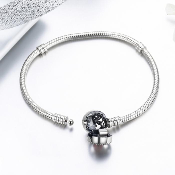 Bratara argint 925 cu floricele si zirconii albe - Be Nature BST0022 4