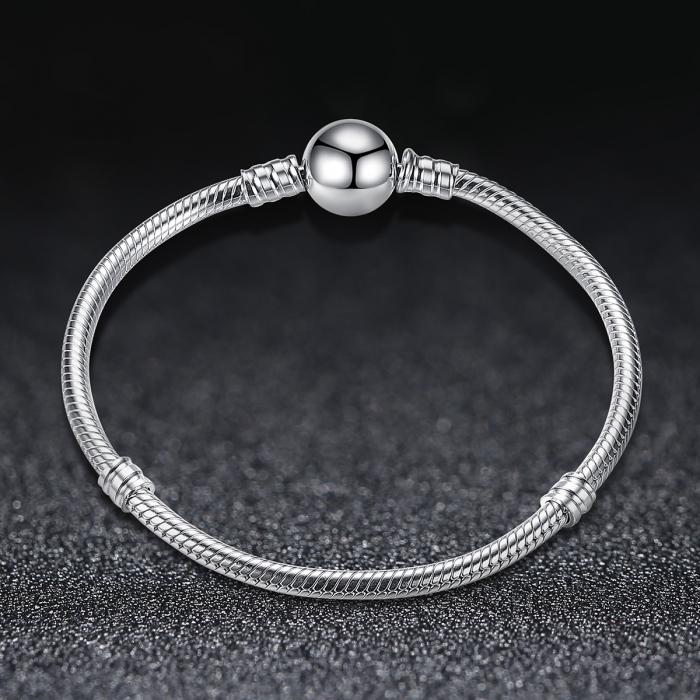 Bratara argint 925 cu inimioara si zirconii albe - Be Elegant BST0018 3