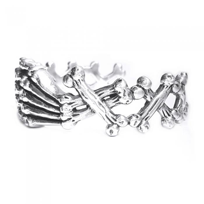 Bratara argint 925 cu oase 1