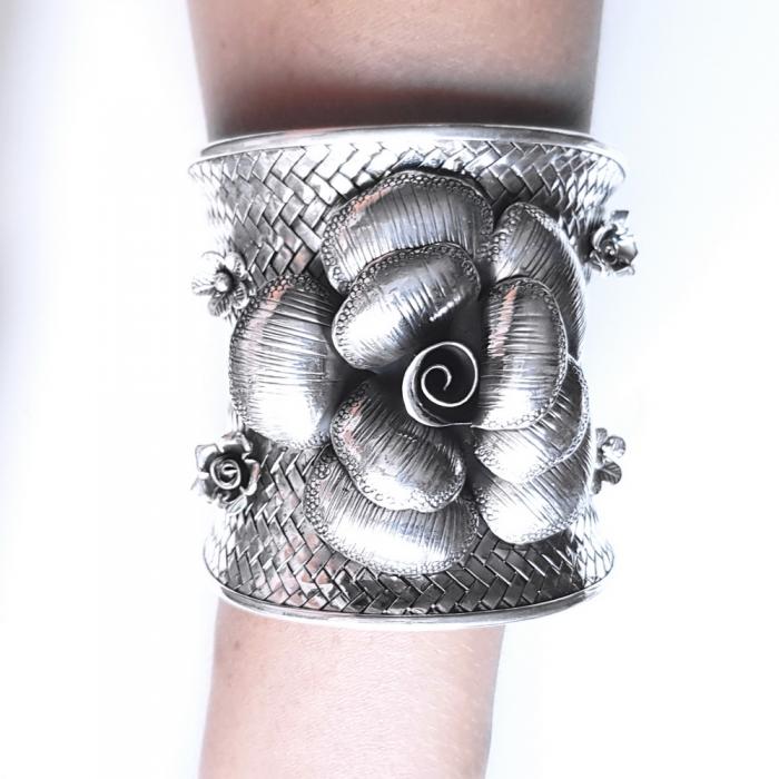 Bratara argint 925 cu trandafiri, Eva 3