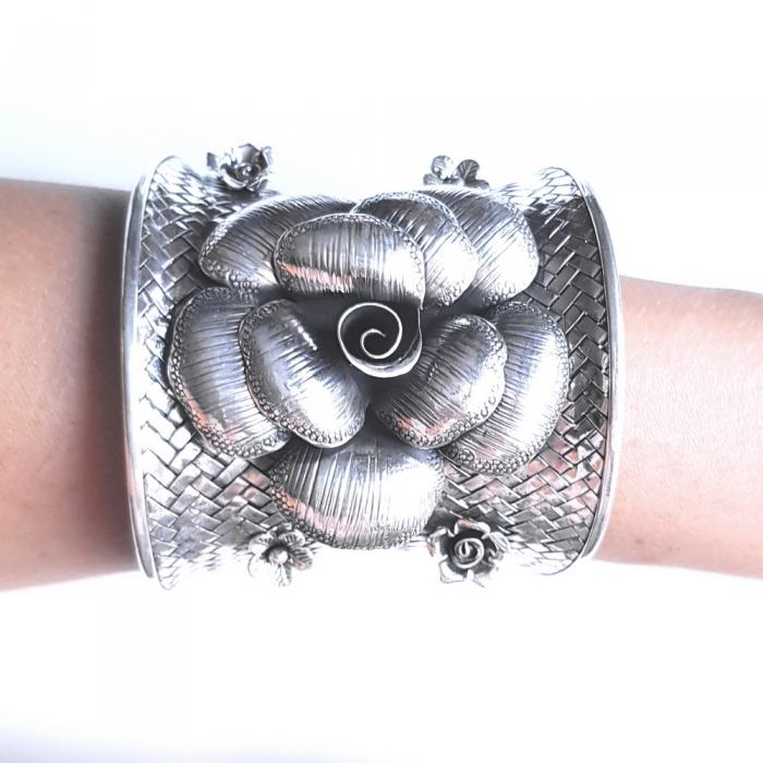 Bratara argint 925 cu trandafiri, Eva 2