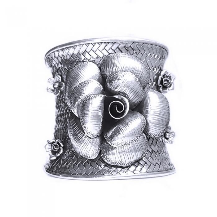 Bratara argint 925 cu trandafiri, Eva 0