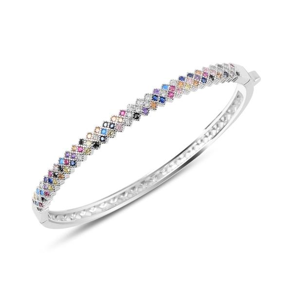 Bratara argint 925 cu zirconii multicolore - Be Elegant BTU0062 0