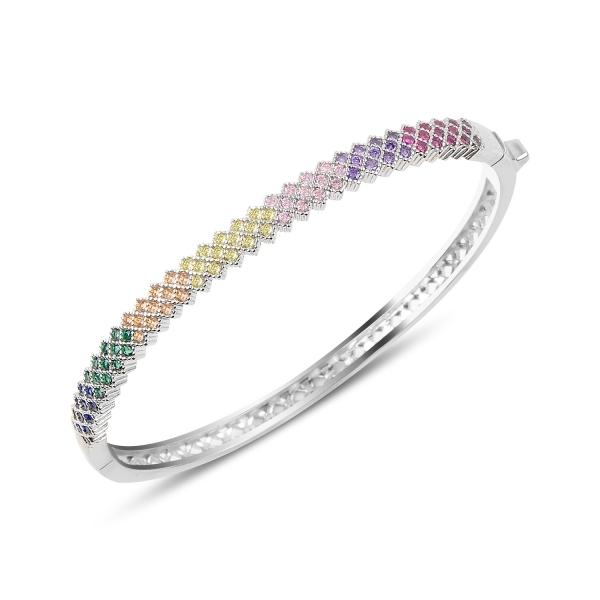 Bratara argint 925 cu zirconii multicolore - Be Elegant BTU0063 [0]