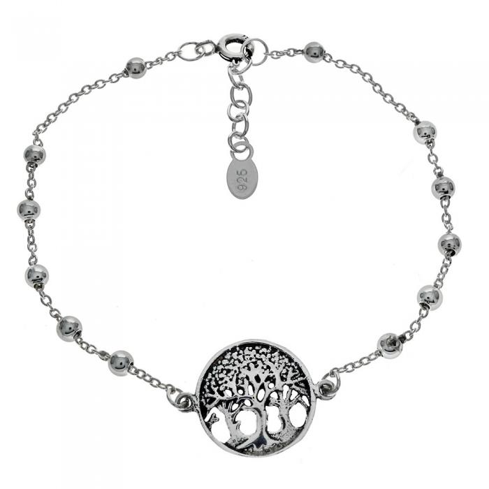 Bratara argint 925 cu copacul vietii si aspect vintage BSX0265 [0]