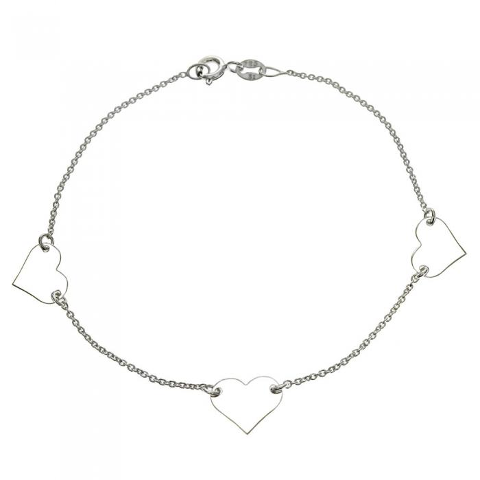 Bratara argint 925 cu trei inimioare BSX0263 0