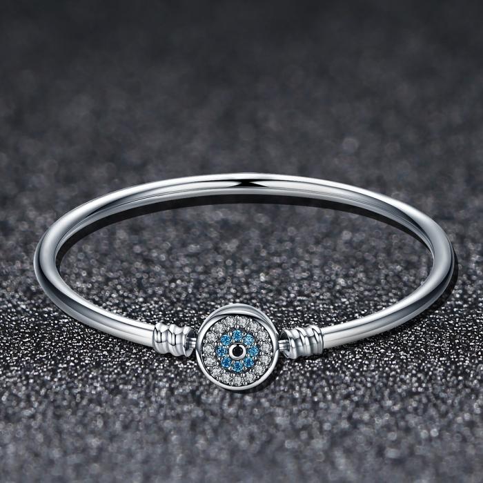 Bratara argint 925 floare albastra cu zirconii - Be Nature BST0025 2