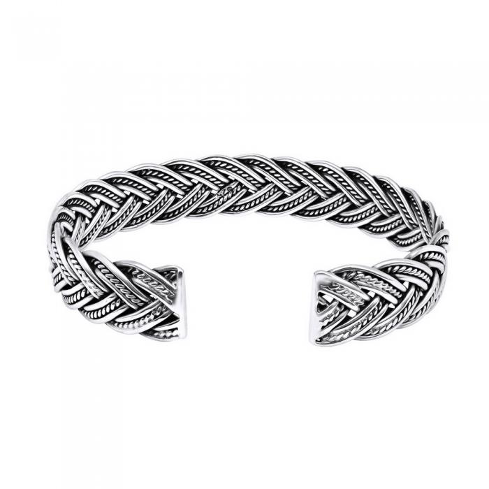 Bratara argint 925 impletita, Nimue 1