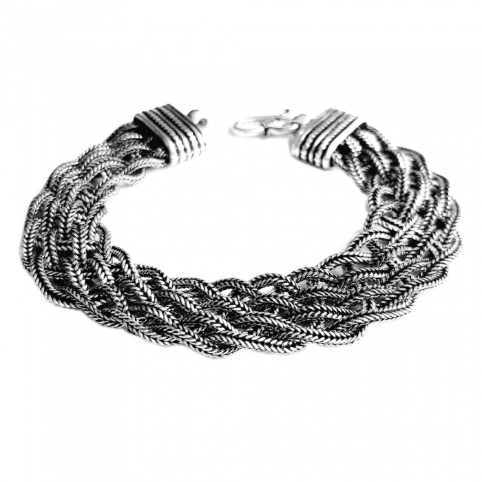 Bratara argint 925 impletita, Timeea 1