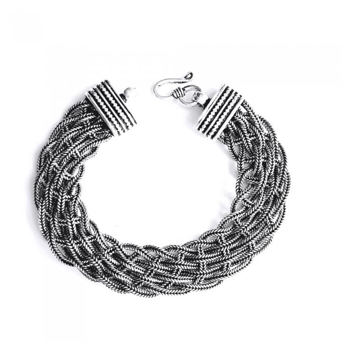Bratara argint 925 impletita, Timeea 0