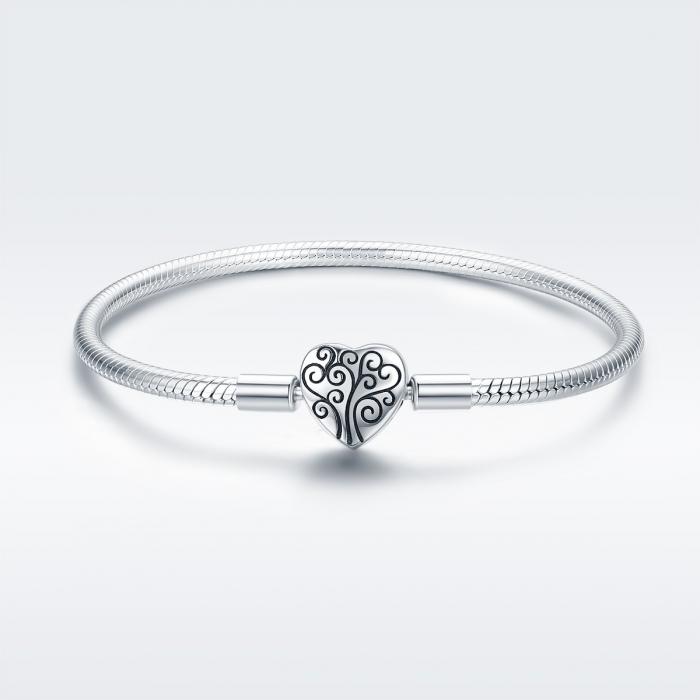 Bratara argint 925 inimioara cu copacul vietii - Be in Love BST0036 2