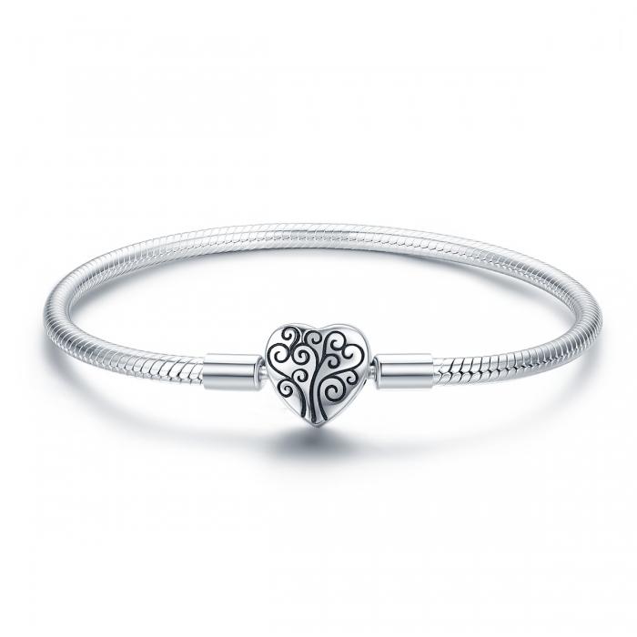 Bratara argint 925 inimioara cu copacul vietii - Be in Love BST0036 0