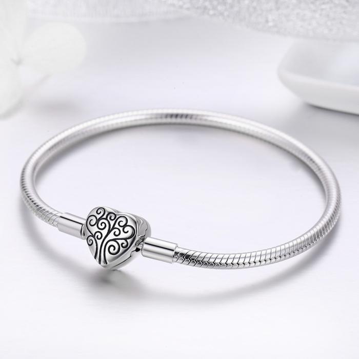 Bratara argint 925 inimioara cu copacul vietii - Be in Love BST0037 1