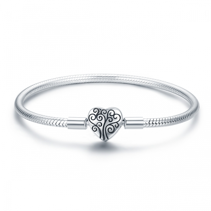 Bratara argint 925 inimioara cu copacul vietii - Be in Love BST0037 0