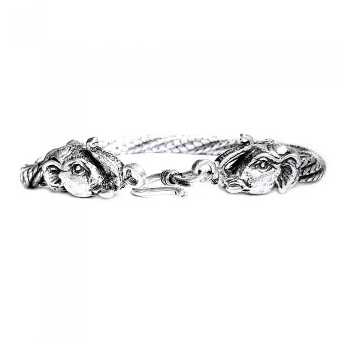 Bratara argint 925 manunchi de lantisoare cu elefanti  , Ganesha 0