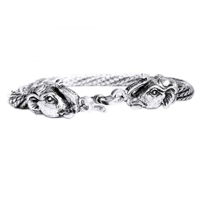 Bratara argint 925 manunchi de lantisoare cu elefanti  , Ganesha 2