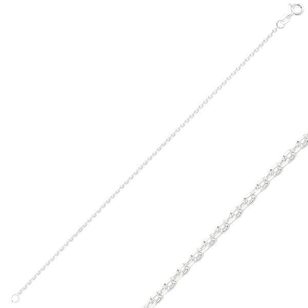 Bratara argint 925 model Forzentina cu taietura tip diamant - Lungime: 50 cm [0]
