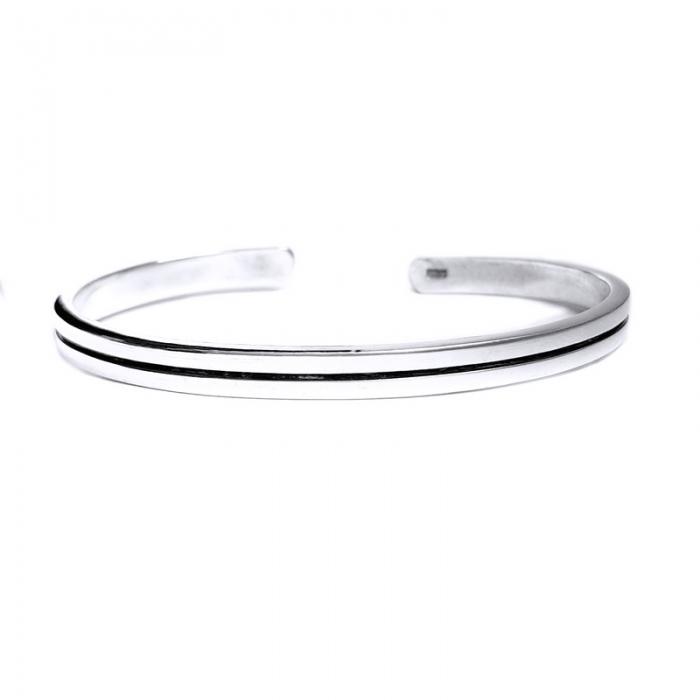 Bratara argint 925 simpla, Minimal 1