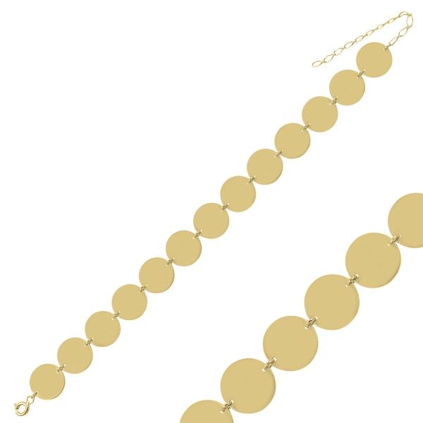 Bratara argint placata cu aur cu banuti - BTU0132 0