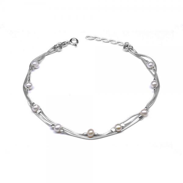 Bratara argint 925 cu perle naturale 0
