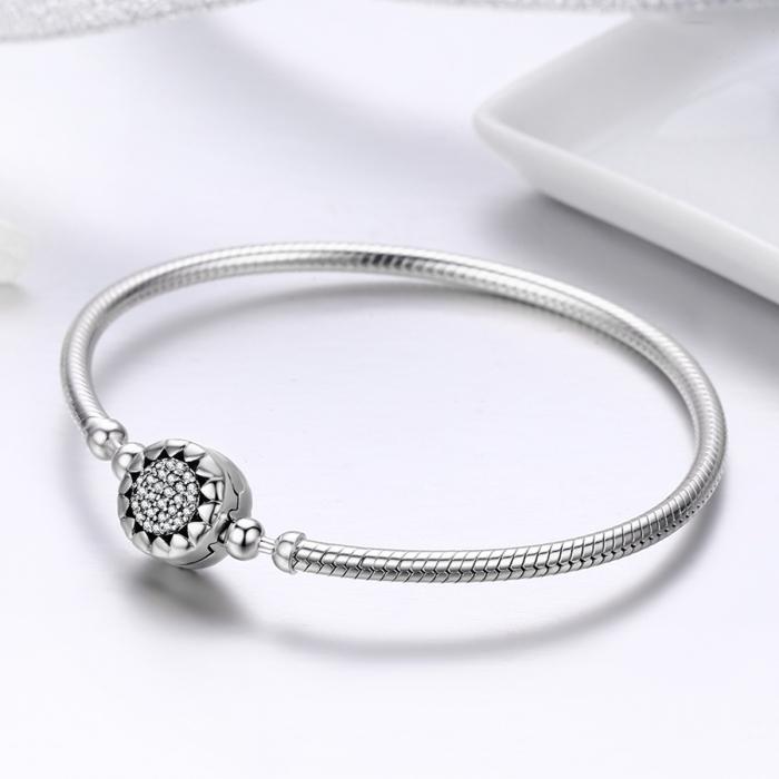 Bratara argint pentru talismane, cu zirconii [1]
