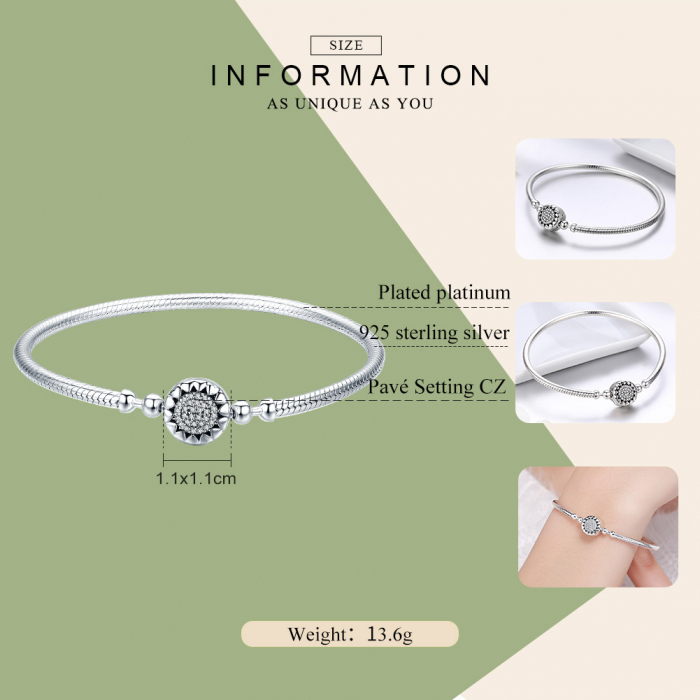 Bratara argint pentru talismane, cu zirconii [4]