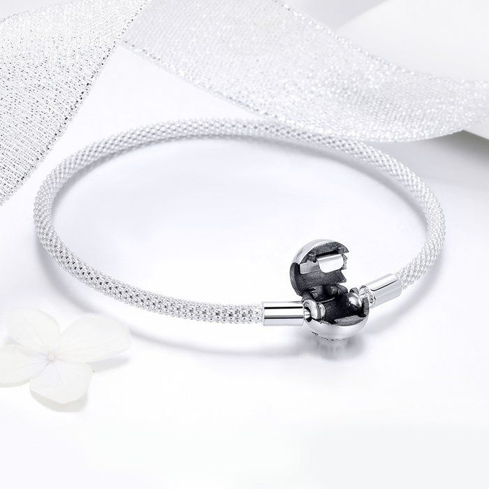 Bratara argint pentru talismane, gravata cu Forever Love 4