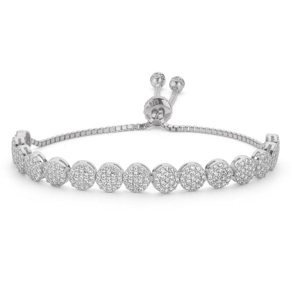 Bratara tenis din argint 925 rodiat cu zirconii albe - Be Elegant BTU0112 0