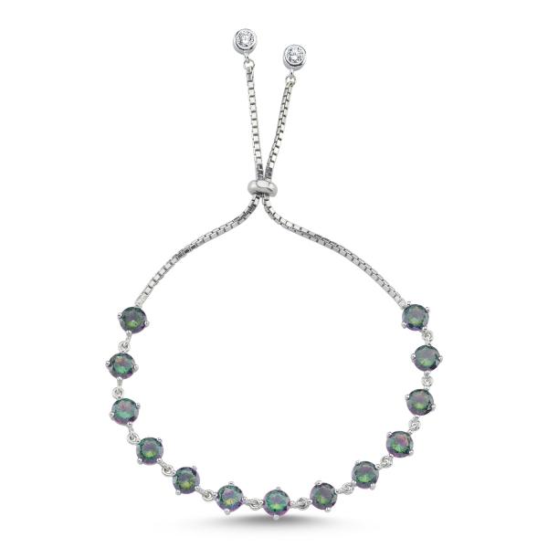 Bratara tenis din argint 925 rodiat cu zirconii topaz mistic - Be Elegant BTU0116 0