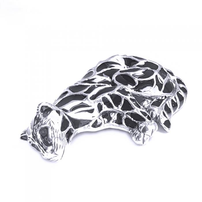 Brosa argint 925 cu pisica pantera puma 1