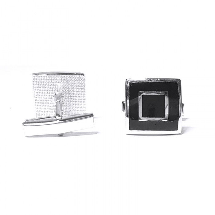 Butoni eleganti din argint 925, Hermes 2