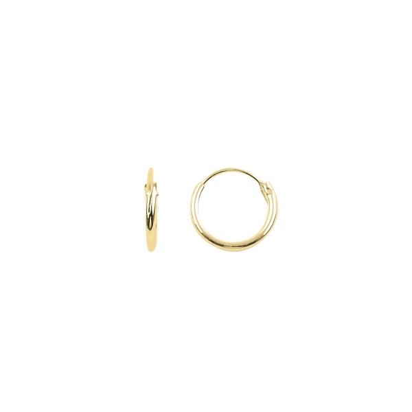 Cercei agint simpli cu cerc de 10 mm placati cu aur [0]