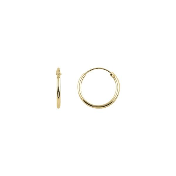 Cercei agint simpli cu cerc de 12 mm placati cu aur [0]