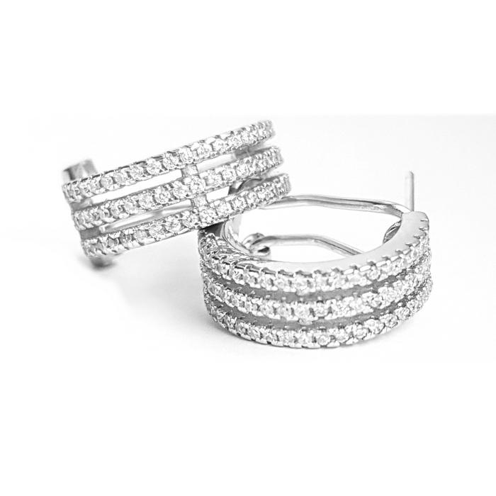 Cercei eleganti din argint 925 rodiat cu zirconii CER0811 0
