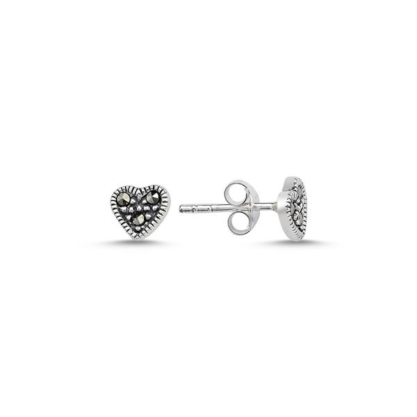 Cercei argint 925 cu inimioare si marcasite - Be in Love ETU0069 0