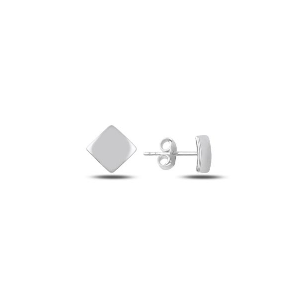 Cercei argint 925 cu patrat, placati cu rodiu - ETU0126 0