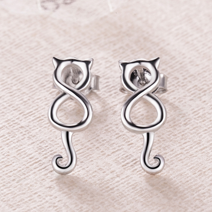 Cercei argint 925 cu pisicute - Be Nature EST0007 3
