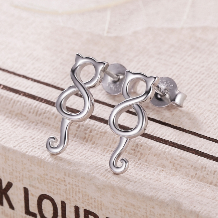 Cercei argint 925 cu pisicute - Be Nature EST0007 5