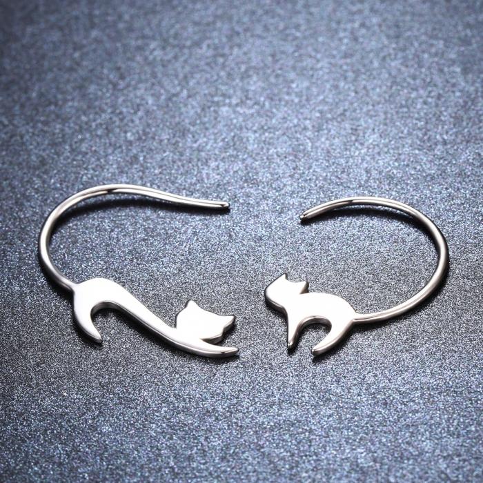 Cercei argint 925 cu pisicute - Be Nature EST0008 3