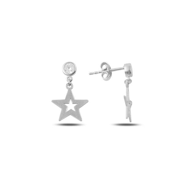 Cercei argint 925 cu stelute si zirconii albe - Be Nature ETU0081 0