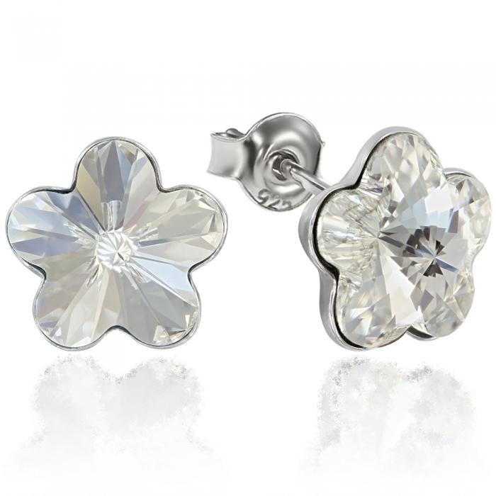 Cercei argint 925 cu swarovski elements Crystal Clear 0
