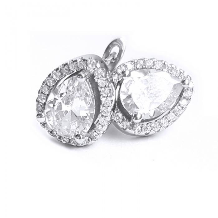 Cercei argint 925 rodiat cu zirconii CER0828 0