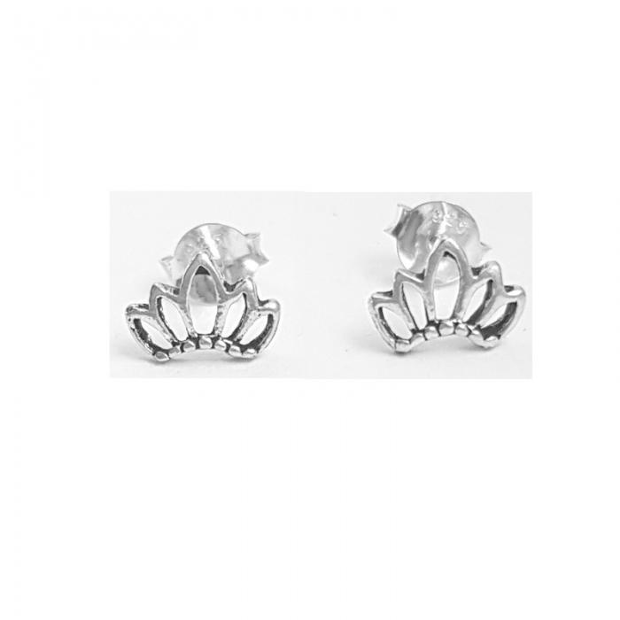 Cercei argint 925 in forma de coroana CER0701 0