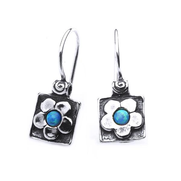 Cercei argint 925 Israel floricele cu opal imperial - Be Nature EPO0013 0