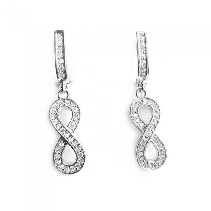 Cercei argint 925 rodiat cu infinit si zirconii - CER0751 - Be Eelegant 1
